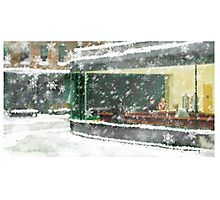 Christmas Nighthawks Photographic Print