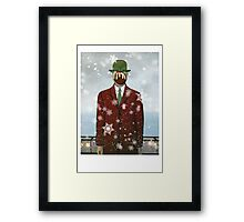 The Christmas Son of Man Framed Print