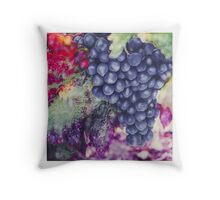 Blue Grapes Throw Pillow