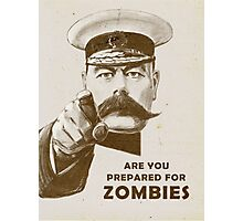 Are you prepared for ZOMBIES? Photographic Print