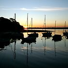 Boats in Cramond Harbour by Jennifer Douglas