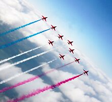The RAF Red Arrows  by J Biggadike