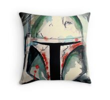 Boba Fett Illustration Throw Pillow