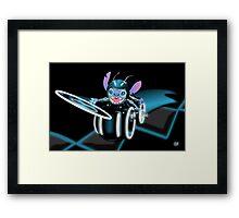 Tron Stitch Framed Print