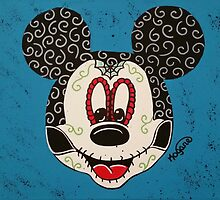 Sugar Skull Mickey Mouse by Katherine  OGane