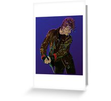 Bowie Guitar 1 Greeting Card