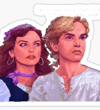 Guybrush and Elaine Sticker