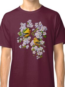 Goldfinches and Blossoms Classic T-Shirt