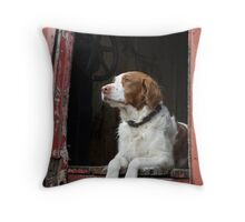 Waiting For The Hunt Throw Pillow