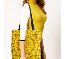 Yellow tote bag by FireFairy