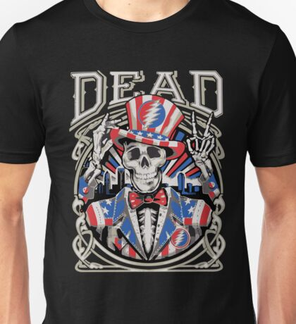 Grateful Dead - America Skeleton Peace Unisex T-Shirt