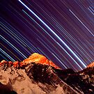 Shooting stars over Everest by Andrew Wilson
