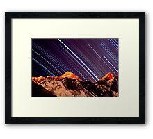 Shooting stars over Everest Framed Print