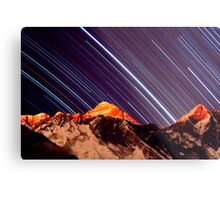 Shooting stars over Everest Metal Print