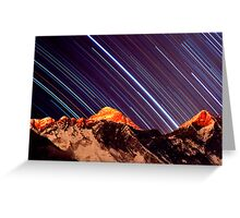 Shooting stars over Everest Greeting Card
