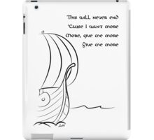 This will never end, Vikings iPad Case/Skin