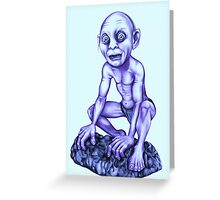 Gollum - Lord of the Rings Greeting Card