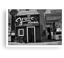 A Bar for Frolickers Canvas Print