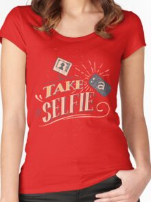 Take a Selfie Women's Fitted Scoop T-Shirt