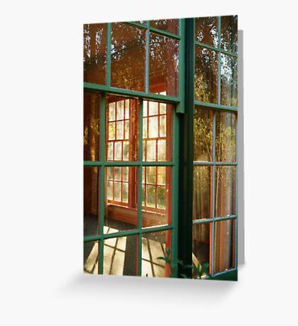 Cottage Windows,Cobin Farm Geelong Greeting Card