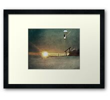 The Trick is to Keep Breathing Framed Print
