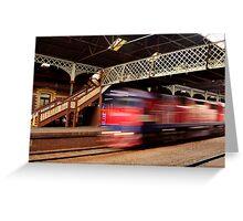 Red Train,Geelong Railway Station Greeting Card