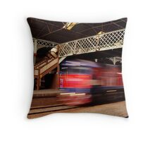 Red Train,Geelong Railway Station Throw Pillow