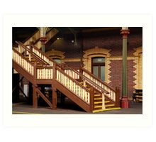 Staircase,Geelong Railway Station Art Print