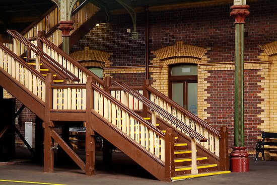 Staircase,Geelong Railway Station by Joe Mortelliti