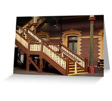 Staircase,Geelong Railway Station Greeting Card