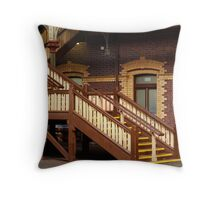 Staircase,Geelong Railway Station Throw Pillow