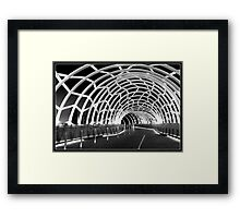 Black Webb Framed Print