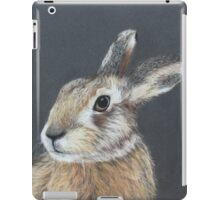 the hares stare iPad Case/Skin