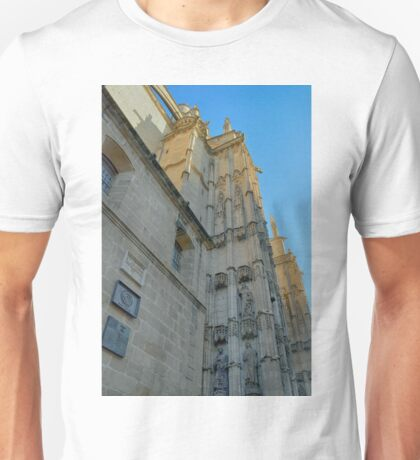 Detail of the cathedral from Sevilla, Spain with side tower Unisex T-Shirt