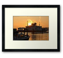 Red Eagle Sunrise Framed Print