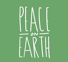 Peace on Earth (Green) by Leah Flores
