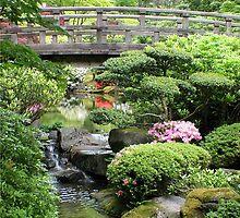 Garden Bridge, Portland Japanese Garden by Rhonda R Clements