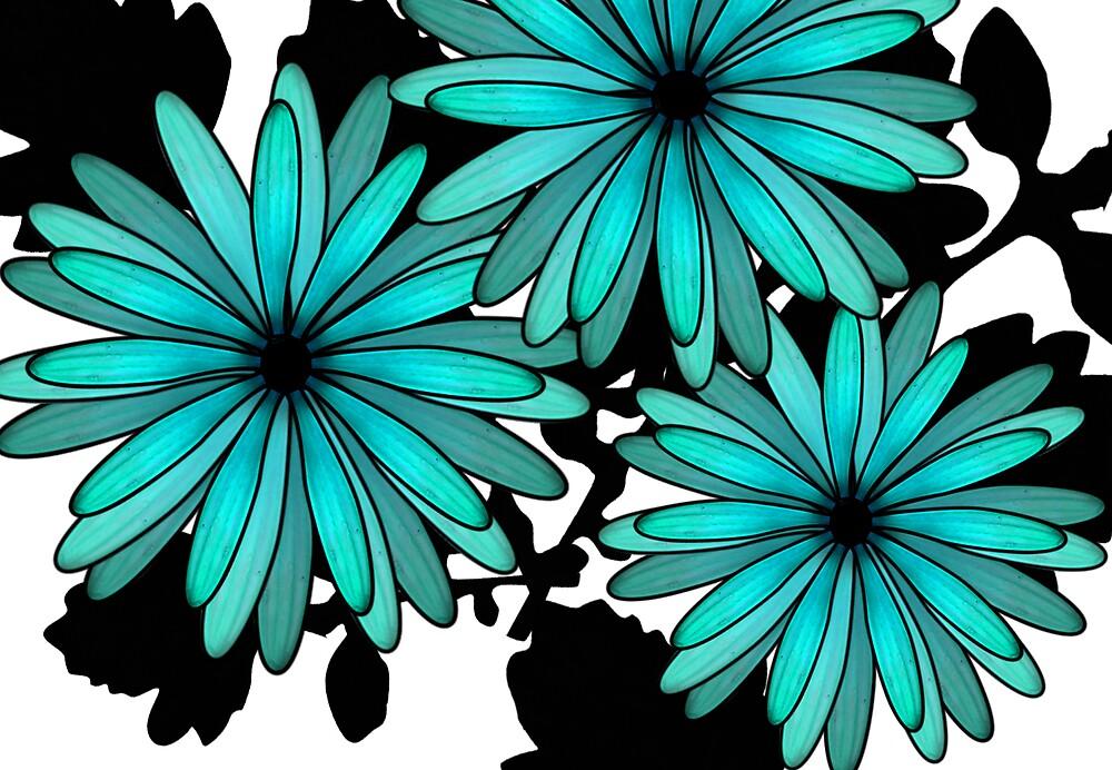 blue daisies by Carolyn