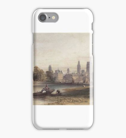 William Callow, R.W.S. (Greenwich  Great Missenden)   Cleaning the nets, Rouen, France iPhone Case/Skin