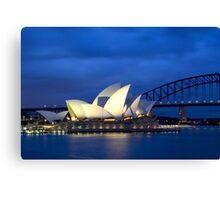 Sydney Opera House before dawn  Canvas Print