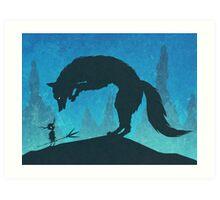 Boy and Fox Art Print