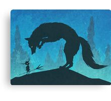 Boy and Fox Canvas Print