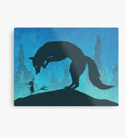 Boy and Fox Metal Print