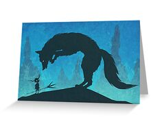 Boy and Fox Greeting Card