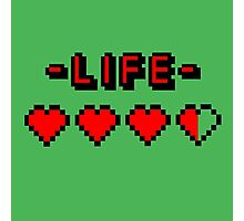 8-bit gamer lifebar Photographic Print