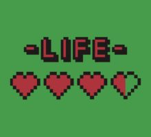 8-bit gamer lifebar by badbugs