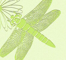 dragonfly in green by Carolyn