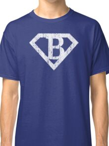 B letter in Superman style Classic T-Shirt