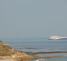 MV Etretat passing Bembridge by Jonathan Cox