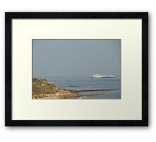 MV Etretat passing Bembridge Framed Print